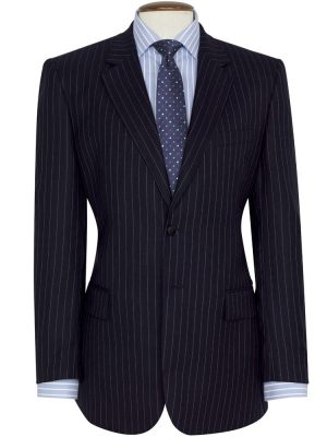 Brook Taverner - Navy Pinstripe Suit - Epsom Classic Fit