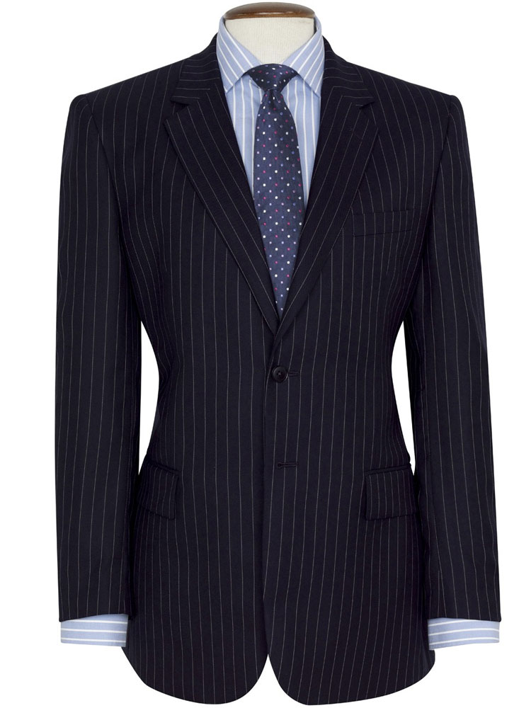 Brook Taverner Navy Pinstripe Suit Epsom Classic Fit