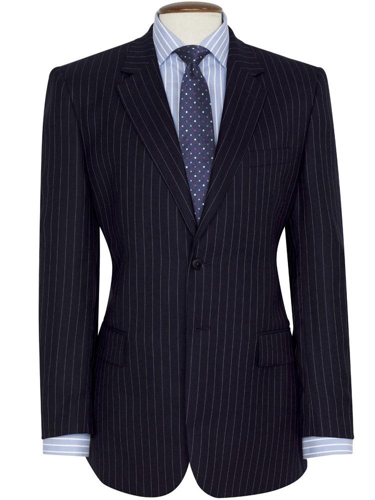 Brook Taverner - Navy Pinstripe Suit - Epsom Classic Fit