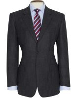 Brook Taverner - Grey - Blue Stripe Suit - Cromford Classic Fit