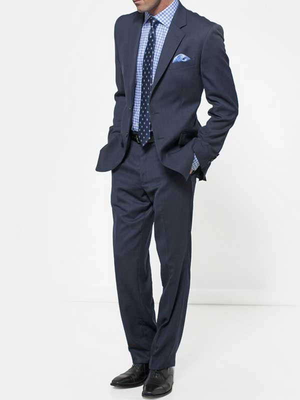 Brook Taverner - Navy Birdseye Suit - Dawlish Classic Fit