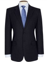 Brook Taverner - Navy Stripe Suit - Cromford Classic Fit