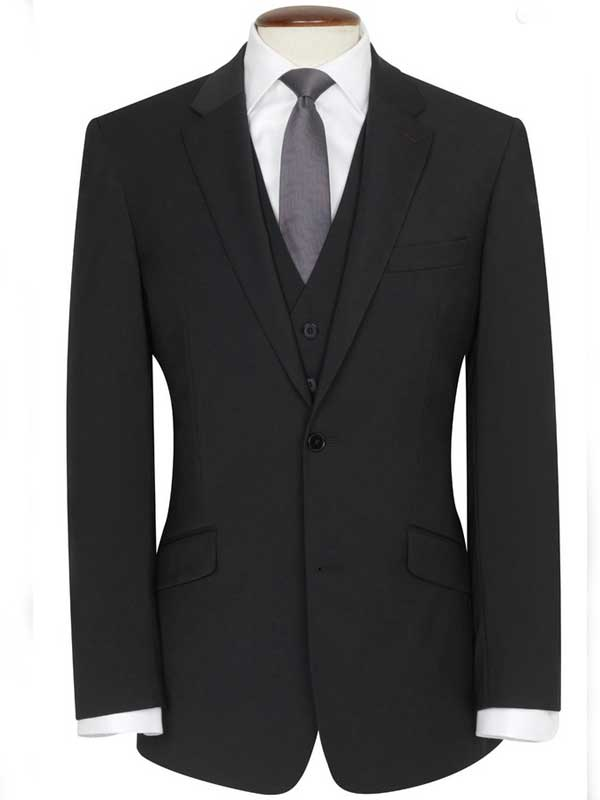 Brook Taverner - Black Travel Suit - Avalino - Tailored Fit