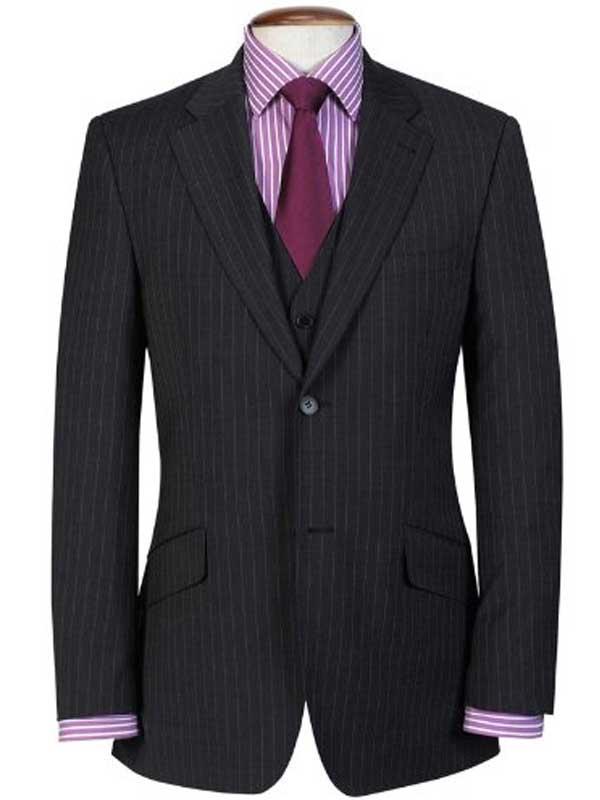 Brook Taverner - Charcoal Pinstripe Travel Suit - Avalino