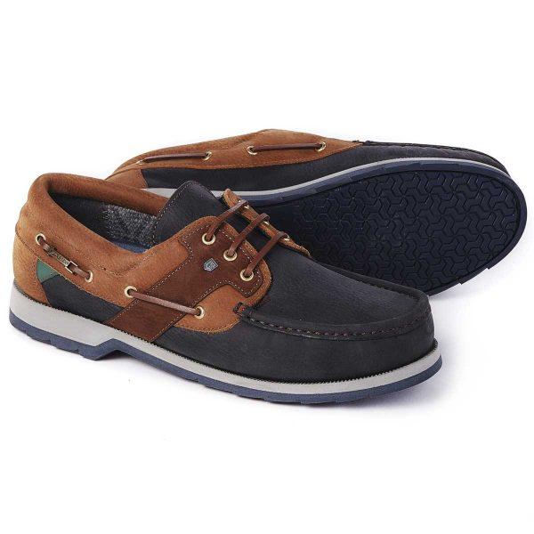 DUBARRY Deck Shoes - Men's Clipper Gore-Tex - Navy / Brown
