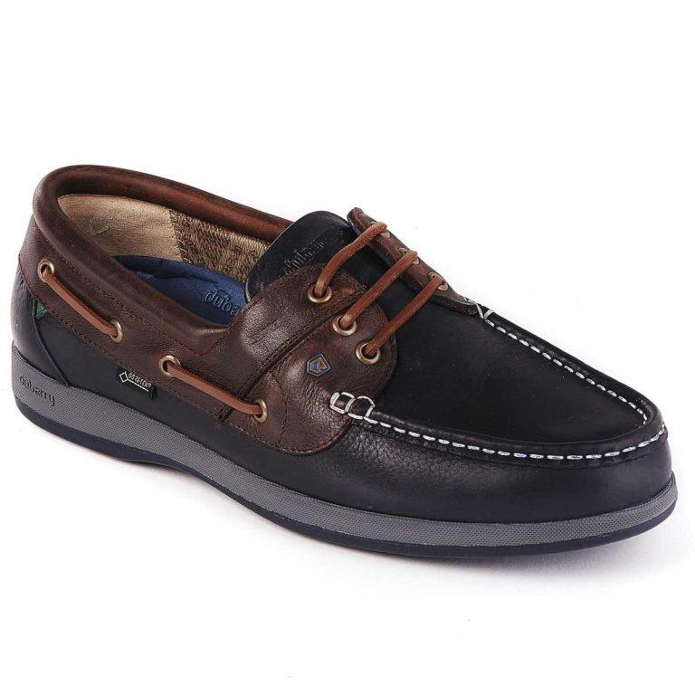 DUBARRY Deck Shoes - Men's Mariner Gore-Tex - Navy & Brown