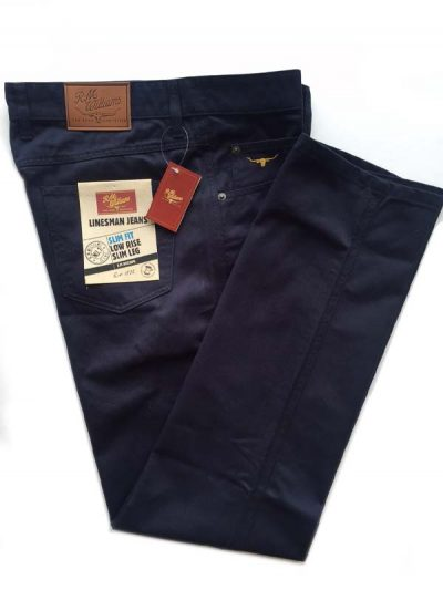 RM Williams - Linesman Navy Drill Jeans - Slim Fit