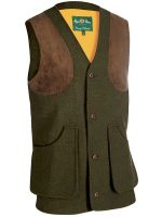 Alan Paine - Loden - Wool Shooting Waistcoat - Olive