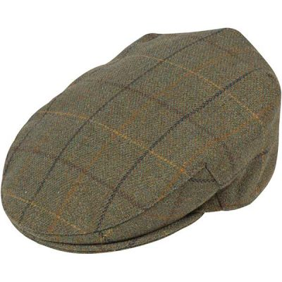 Alan Paine - Rutland Tweed Cap - Dark Moss