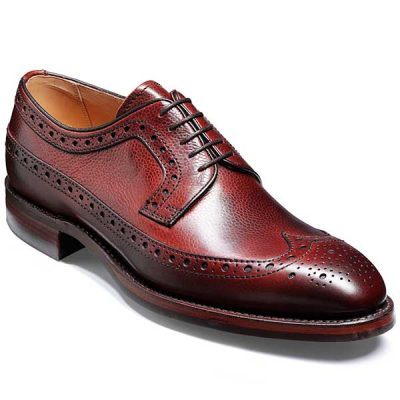 Barker Shoes - Calvay Country Brogue - Cherry Grain