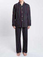 Derek Rose - Regimental ASH Cotton Stripe Pyjamas