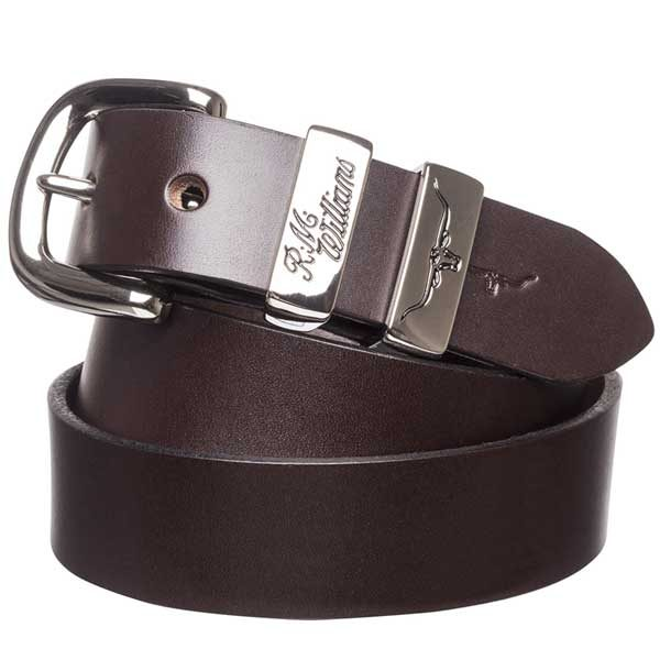 """RM Williams - 1.25"""" Leather 3 Piece Belt Solid Hide"""