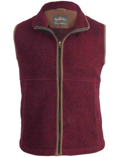 Alan Paine - Aylsham Gents Fleece Waistcoat - Bordeaux