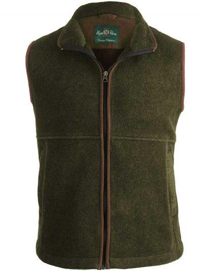 Alan Paine - Aylsham Gents Fleece Waistcoat - Green