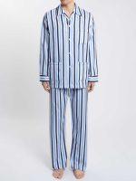 Derek Rose - Windsor 40 Cotton Satin Stripe Pyjamas