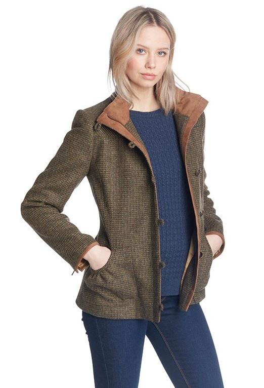 3b974f214 DUBARRY Bracken Ladies Tweed Jacket - Heath