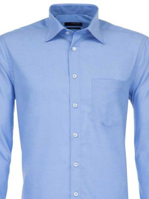 Seidensticker Blue Shirt - Classic Splendesto Pure Cotton
