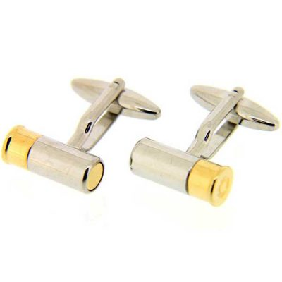 Soprano - Shotgun Cartridge Cufflinks - Sliver & Gold