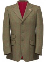 Alan Paine - Compton Blazer - Sage Green Wool Tweed Jacket