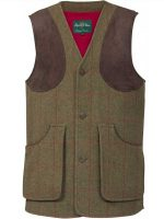 Alan Paine - Compton Shooting Waistcoat - Sage Green Tweed