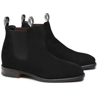 RM Williams - Suede Comfort Craftsman Boots - Black