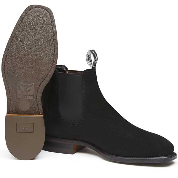 RM Williams - Suede Comfort Craftsman Boots - Black