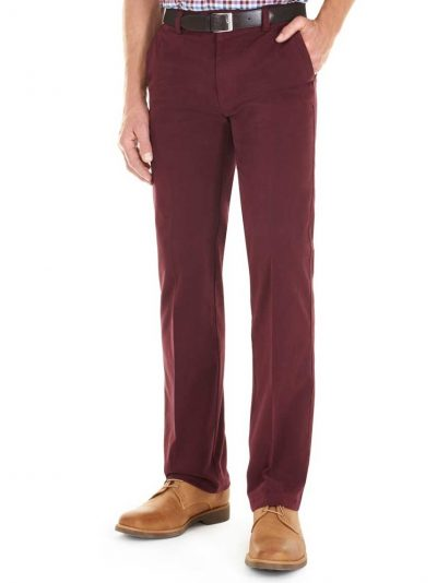 GURTEEN Chinos - Longford Winter Stretch Cotton – Cranberry