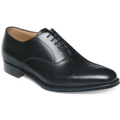 Cheaney - Lime Leather Sole Oxford Shoes - Black Calf