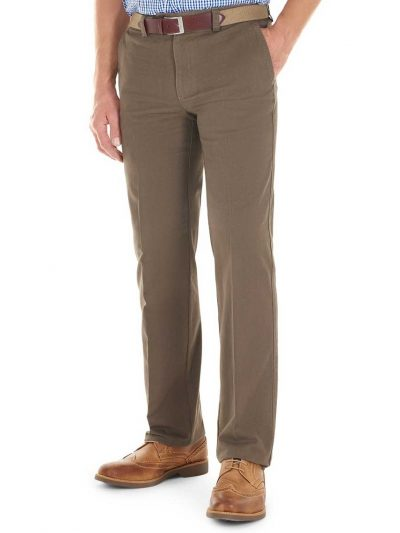 GURTEEN Chinos - Longford Winter Stretch Cotton – Taupe