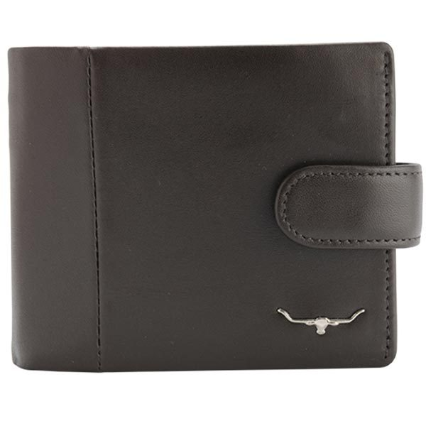 RM Williams - Leather Wallet with Coin Pocket & Tab - Brown