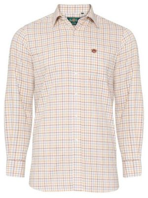 ALAN PAINE - Mens Ilkley Country Check Shirt - Country Brown