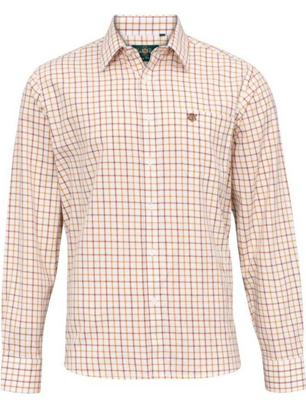 ALAN PAINE - Mens Ilkley Country Check Shirt - Gazelle