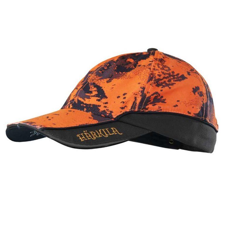 HARKILA Cap - Mens Lynx Safety Light Cap - AXIS MSP® Orange Blaze & Shadow Brown
