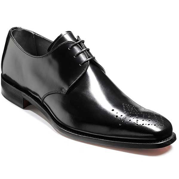 Barker Shoes - Darlington - Derby Style - Black Hi-Shine