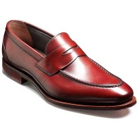 Barker Shoes - Donnington Penny Loafer - Cherry Calf