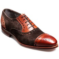 Barker Shoes - Dover - Bitter Choc Suede & Rosewood Calf