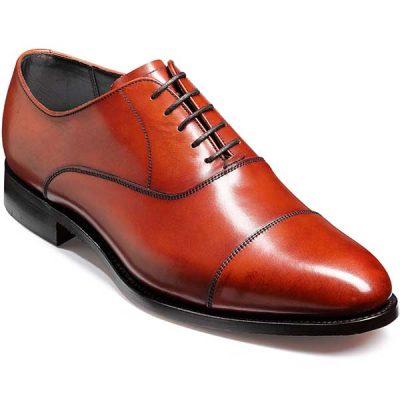 Barker Shoes - Duxford - Oxford Toe Cap - Rosewood Calf