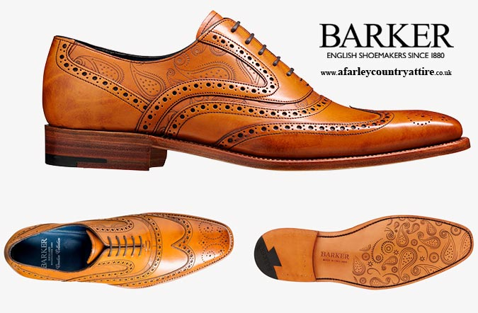 Get The Look: Barker Shoes Mcclean Cedar Calf & Paisley Laser