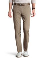 Meyer Trousers Soft Cotton Chinos - Expandable Waist - Camel