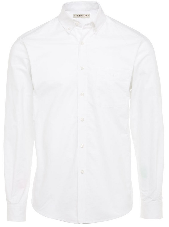 RM Williams - Collins Oxford Shirt - White Button Down