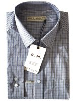 RM Williams - Collins Shirt - Navy, Blue & Brown Check