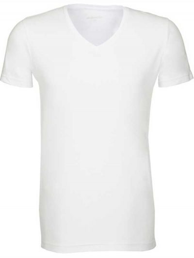 Seidensticker Schwarze Rose White V-Neck T-Shirt