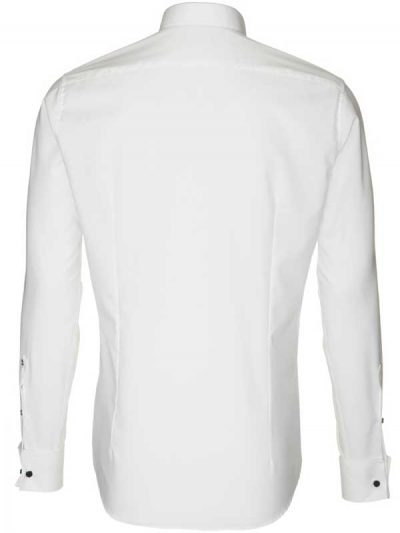 Seidensticker Shirts - Schwarze Slim Fit Wing Collar - White
