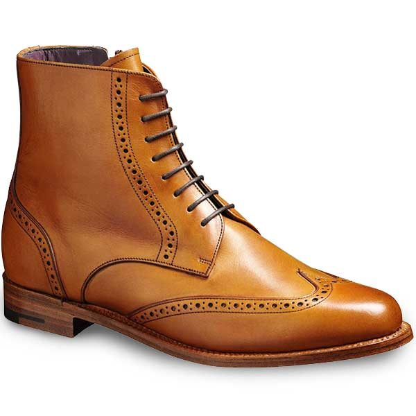 Barker Ladies - Faye Brogue Boots - Cedar Calf