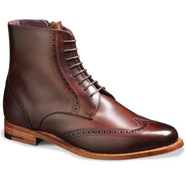 Barker Ladies - Faye Brogue Boots - Walnut Calf