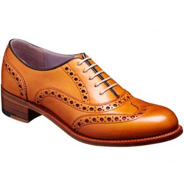 Barker Ladies Shoes – Sloane Brogue – Cedar Calf