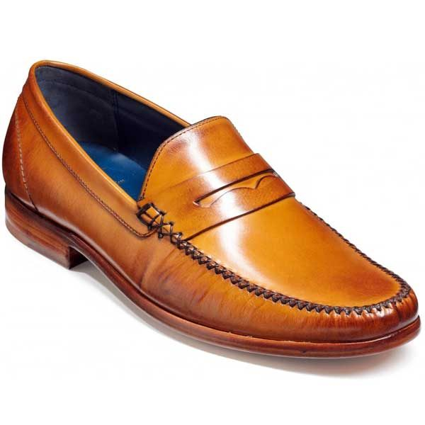 Barker Shoes - William Moccasin - Cedar Calf