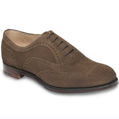 Cheaney - Arthur III Brogues - Plough Suede Leather
