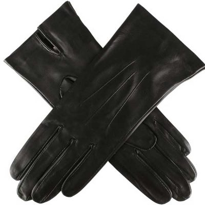 Dents Ladies - Joanna Silk Unlined Leather Gloves - Black