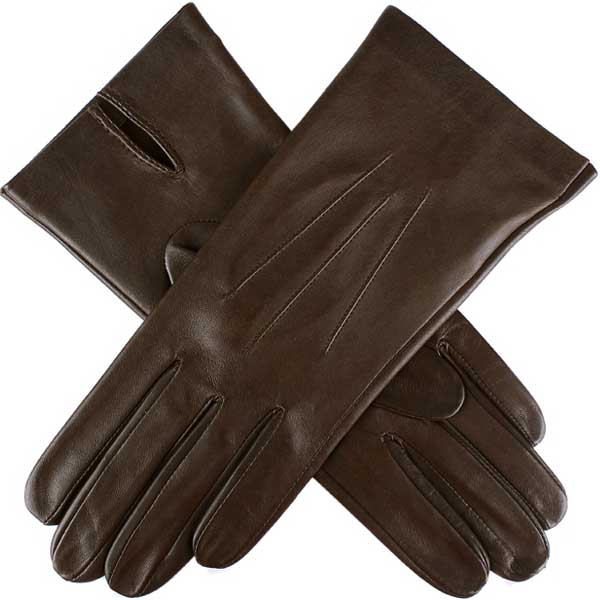 Dents Ladies - Joanna Silk Unlined Leather Gloves - Mocca